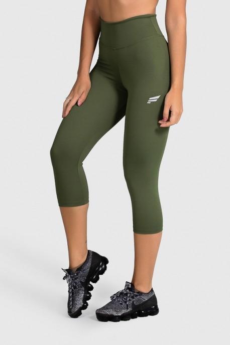 Calça Corsário de Poliamida Básica (Verde Militar) | Ref: GO2-I