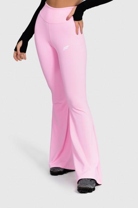 Calça Flare Fitness Básica (Rosa Bebê) | Ref: GO4-G