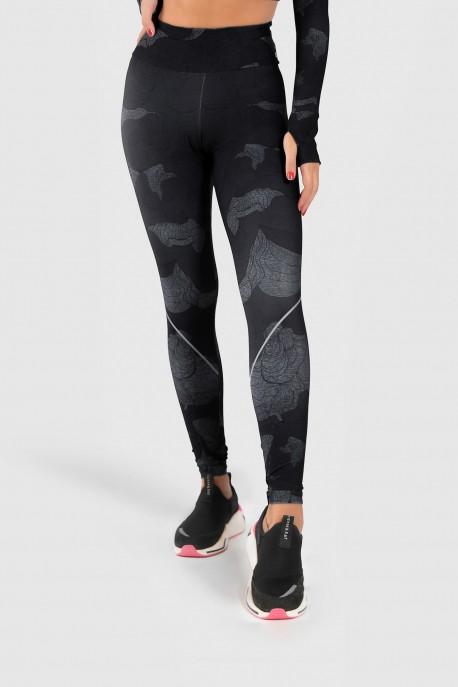 Calça Legging Fitness Estampa Digital Abstract Waves   Ref: GO186