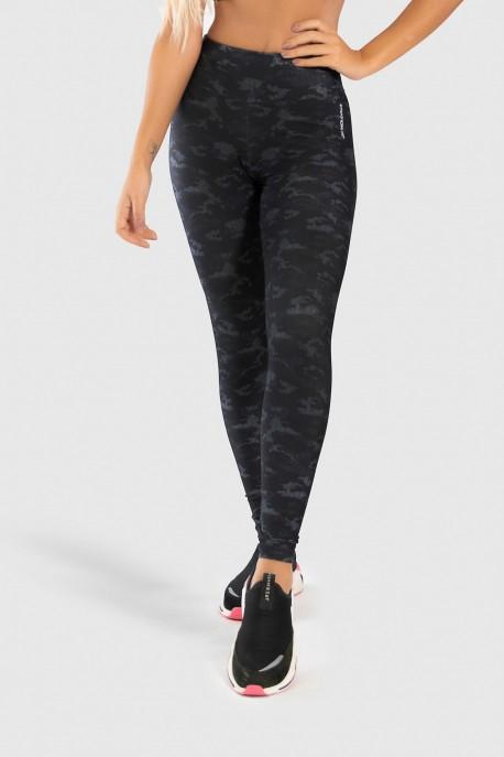 Calça Legging Fitness Estampa Digital Camouflaged Black   Ref: GO189-A