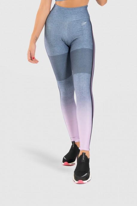 Calça Legging Fitness Estampa Digital Crossing Colors   Ref: GO178