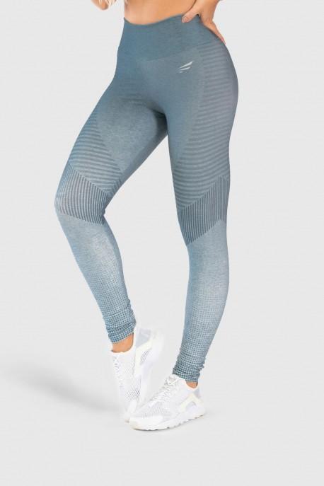 Calça Legging Fitness Estampa Digital Gray Chevron   Ref: GO242