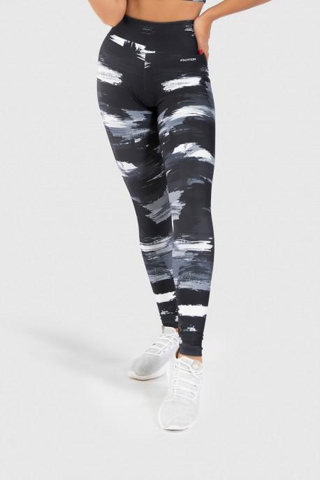 Calça Legging Fitness Estampa Digital Gray Shades   Ref: GO215