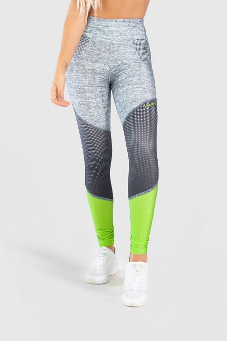 Calça Legging Fitness Estampa Digital Neon Light | Ref: GO239