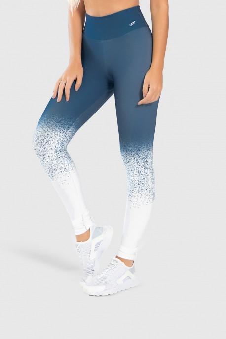 Calça Legging Fitness Estampa Digital Snow Flakes   Ref: GO252
