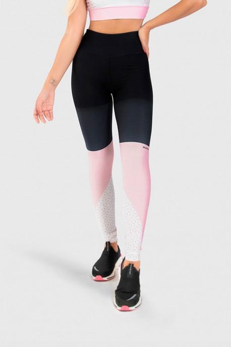 Calça Legging Fitness Estampa Digital Geometric Flowers   Ref: GO179