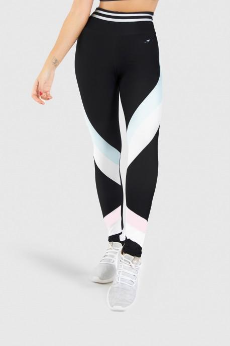 Calça Legging Fitness Estampa Digital White Stripes   Ref: GO188