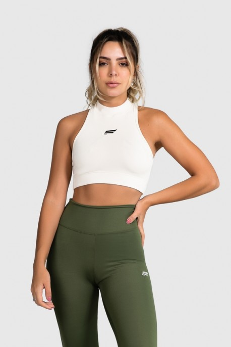 Cropped Fitness Gola Alta (Off-White) | Ref: GO8-D