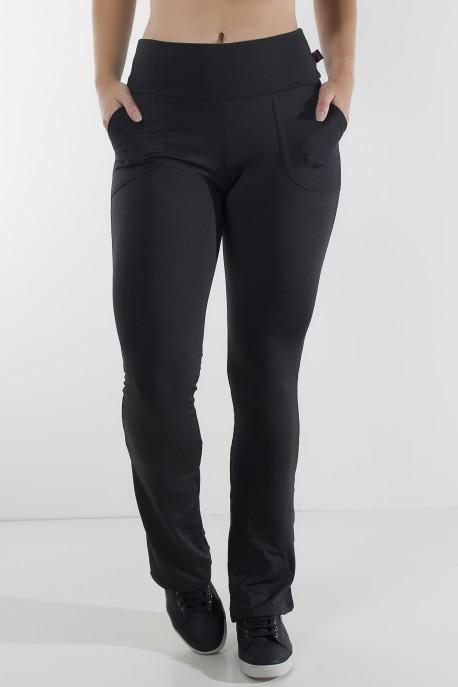 Calça Legging Bailarina Cores Lisas (Preto) | Ref: KS-F145-001