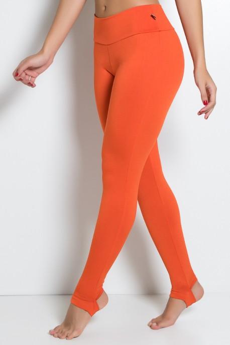 Legging Lisa com Pezinho (Laranja) | Ref:F216-004