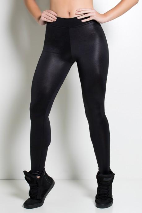 Calça Cós Baixo com Frente Cirrê (Preto) | Ref: KS-F2219-001