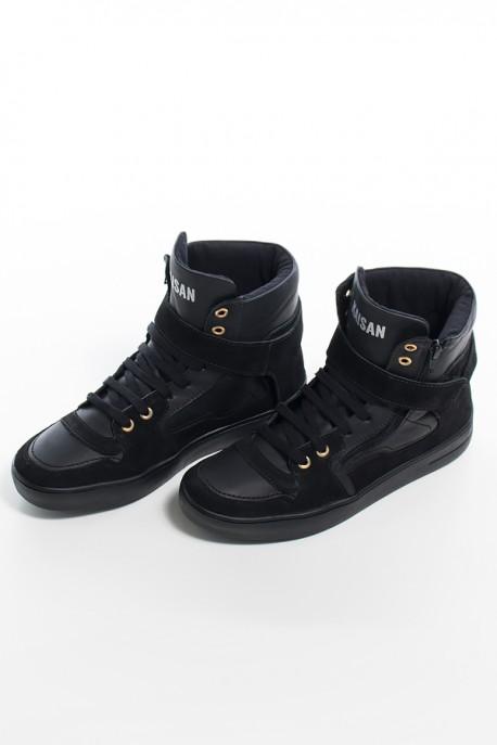 Sneaker Unissex Preto com Sola Preta   Ref: KS-T36-002