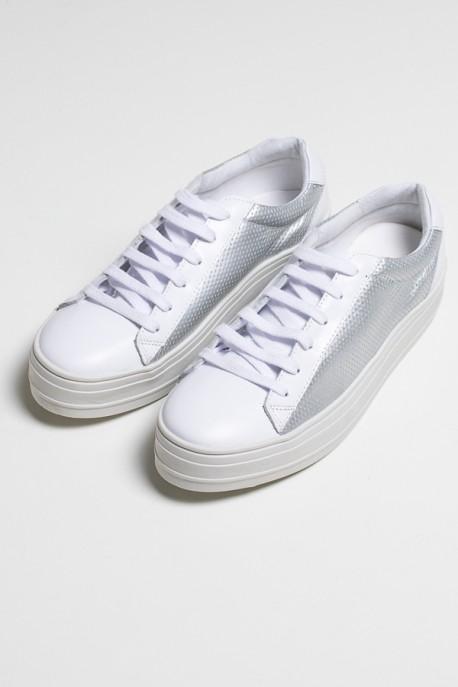 Tênis Confort (Branco / Prata) 783-03   Ref: KS-T82-001