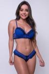 Conjunto Dara 2381 (Azul Royal com Preto) | Ref: KS-B204-001