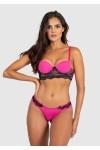 Conjunto Monica 2372 (Rosa Pink e Preto)| KS-B205-004