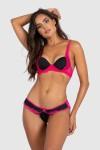 Conjunto Sara 2379 (Preto/Rosa Pink) | Ref: KS-B207-004