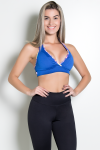 Top Liso com Viés Estampado (Azul Royal) | Ref: KS-F128-002