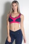 Top Carla (Azul Marinho / Rosa Pink) | Ref: KS-F491-009