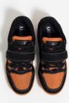 Tênis Crossfit Masculino com Velcro e Cadarço (Preto / Laranja)   Ref: KS-T56-003