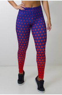 Calça Legging Sublimada Redblue | Ref: CAL373-041