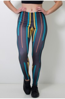 Calça Feminina Legging Sublimada Direct Lines | Ref: CAL393-041