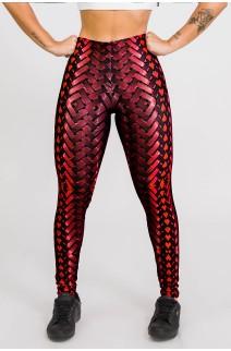 Calça Legging Sublimada New Braided Red | Ref: CA439-041-000