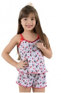Babydoll de Liganete Infantil 020 (Estampa sortida)   Ref: CEZ-CZ020-001