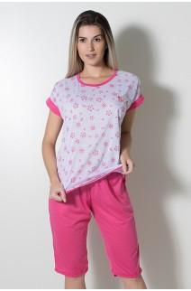 Pijama Pescador 032 (Pink - Flores) CEZ-PA032-008