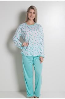 Pijama Longo 075 (Verde Piscina) CEZ-PA075-003