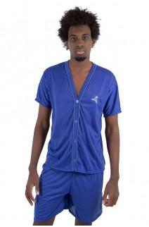 Pijama Mas. de Botão 168 (Azul) | Ref: CEZ-PA168-001