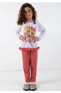 Pijama longo de Malha Infantil 185 Goiaba | Ref: CEZ-PA185-003