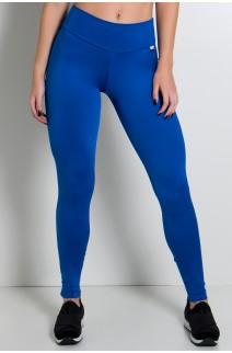 Calça Legging Lisa com Fecho na Perna (Azul Royal) | Ref: F157-002