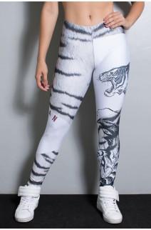 Legging Tigre Cinza e Preto Sublimada | Ref: F1945-001