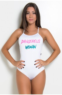 Body Liso com Alças Cruzadas (DANGEROUS WOMAN)   Ref: F2062-001