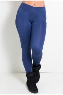 Calça Levanta Bumbum com Bolso (Azul Marinho) | Ref: F488-003