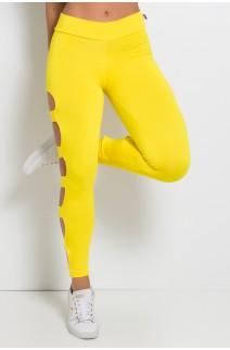 Calça Legging Rasgada (Amarelo) | Ref: F98-003