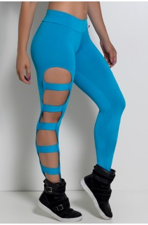 Calça Legging Rasgada (Azul Celeste) | Ref: F98-004