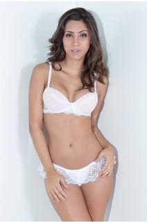 Conjunto Bruna 2365 (Branco com Rosa Bebê) | Ref: KS-B199-001