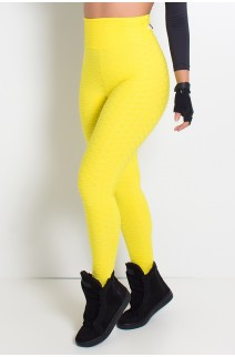 Calça Legging Tecido Bolha (Amarelo) | Ref: KS-F103-003