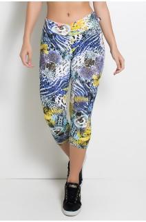 Corsário Estampada (Floral com Oncinha) | Ref: KS-F15-038