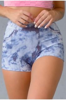 Shortinho Jeans Desbotado Sublimado | Ref: KS-F1819-001