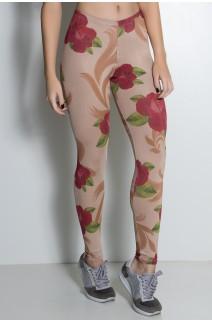 Legging Rosas Vermelhas Sublimada   Ref: KS-F1899-001