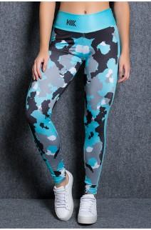 Legging Camuflado Azul Sublimada | Ref: KS-F2253-001