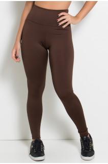 Legging Cós Alto Marrom | Ref: KS-F23-019