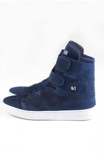 Sneaker Cano Alto Nobuck com Velcro (Azul Marinho)   Ref: KS-T46-002