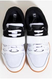 Tênis Crossfit Masculino com Velcro e Cadarço (Preto / Branco) | Ref: KS-T56-001