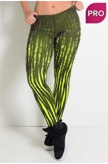 Legging Sublimada PRO (Amarelo Neon com Riscos Pretos) | Ref: NTSP08-001