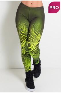 Legging Sublimada PRO (Zig Zag Amarelo Neon) | Ref: NTSP10-002
