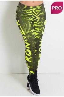 Legging Sublimada PRO (Stronger Amarelo Neon) | Ref: NTSP12-002