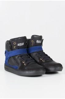 Sneaker Unissex Preto com Azul | Ref: T39